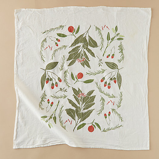 View larger image of Festive Flowers Tea Towel