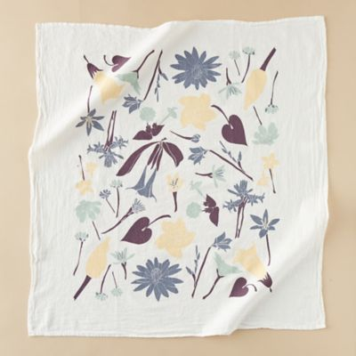 Holiday Moon Garden Tea Towel