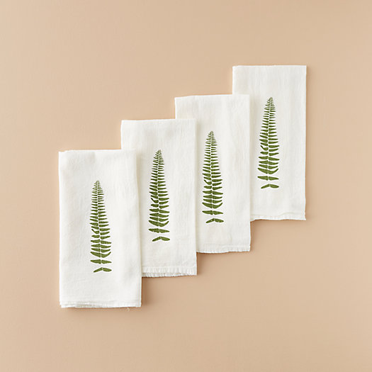 View larger image of Fern Frond Napkin Set