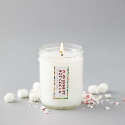Peppermint Hot Cocoa Mason Jar Candle