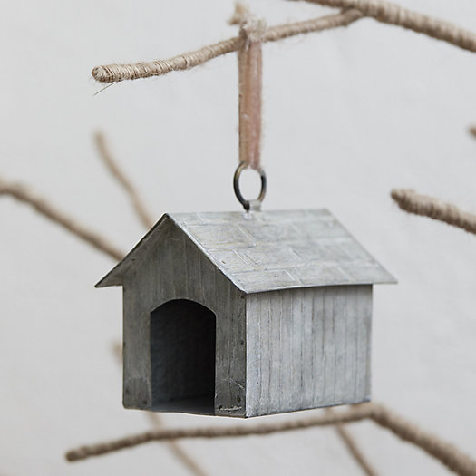 View larger image of Zinc Dog House Ornament