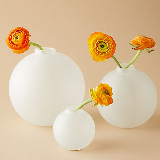 View larger image of Frosted Glass Bauble Vase