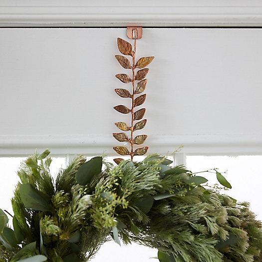 View larger image of Brass Leaf Wreath Hanger