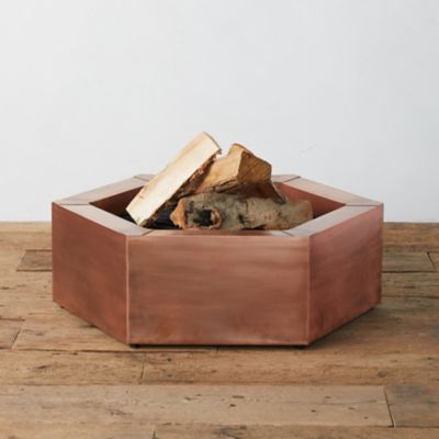 Hexagon Copper Fire Pit
