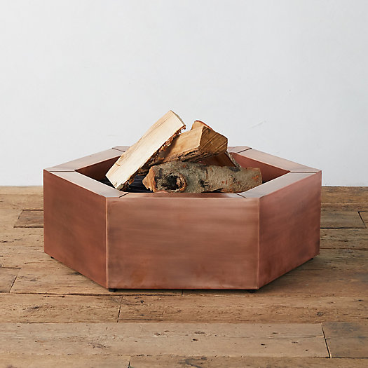 View larger image of Hexagon Copper Fire Pit