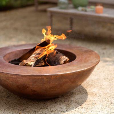 Round Copper Fire Pit
