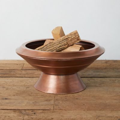 Footed Copper Fire Pit