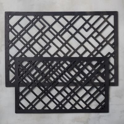 Graphic Lines Rubber Doormat