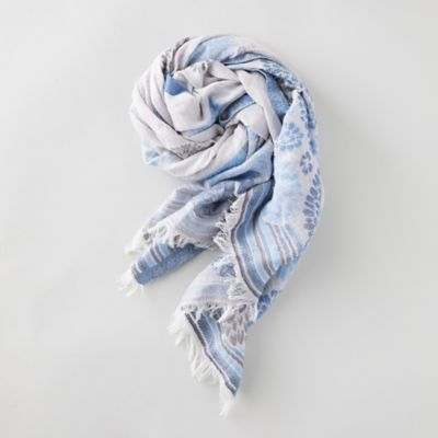 Blooming Blue Floral Scarf