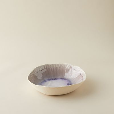 Source and Tradition Crackle Glass Low Bowl