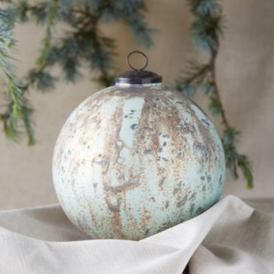 Verdigris Globe Ornament