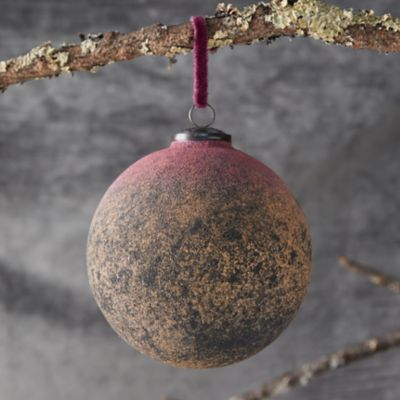 Pink + Yellow Globe Ornament