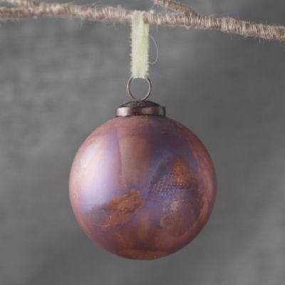 Marbled Pink Globe Ornament