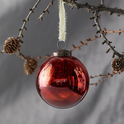 View larger image of Metallic Amber Globe Ornament