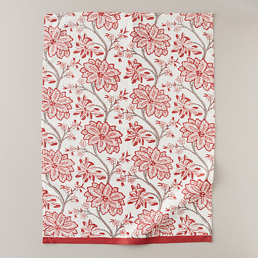 View larger image of Red Florals Tea Towel
