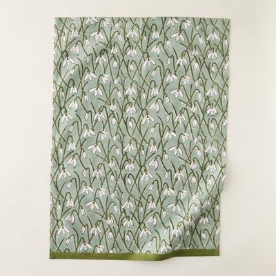 Ivy Snowdrops Tea Towel