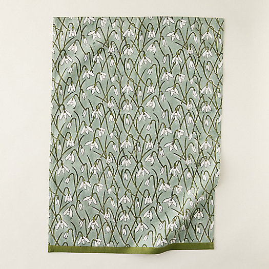 View larger image of Ivy Snowdrops Tea Towel