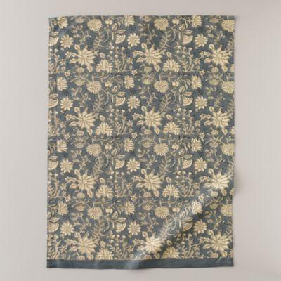 Periwinkle Dahlia Tea Towel