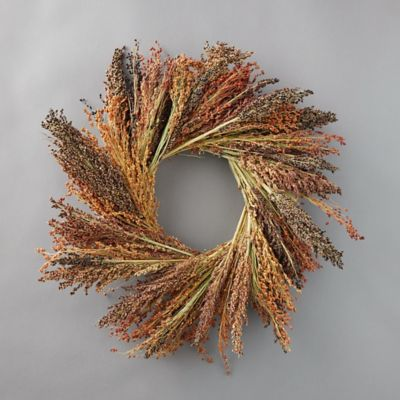 Red Broom Corn Wreath