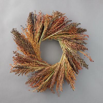 Red Broom Corn Wreath