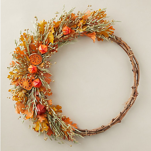 View larger image of Asymmetrical Quince + Maple Wreath