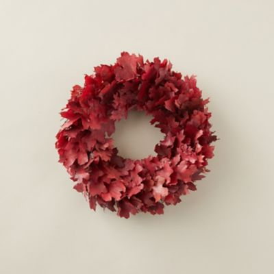 Preserved Red Maple Leaf Wreath