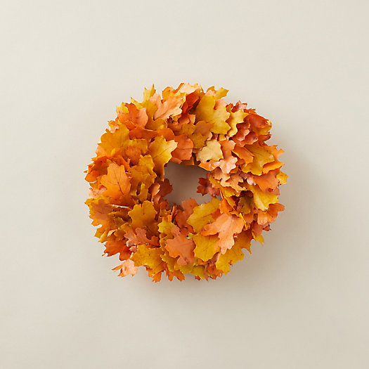 View larger image of Preserved Red Maple Leaf Wreath