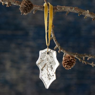 Mirrored Leaf Ornament