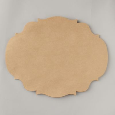 Framed Kraft Paper Placemats, Set of 12