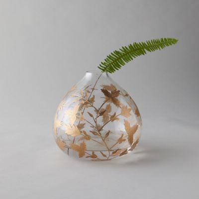 Gilded Botanicals Etched Bulb Vase