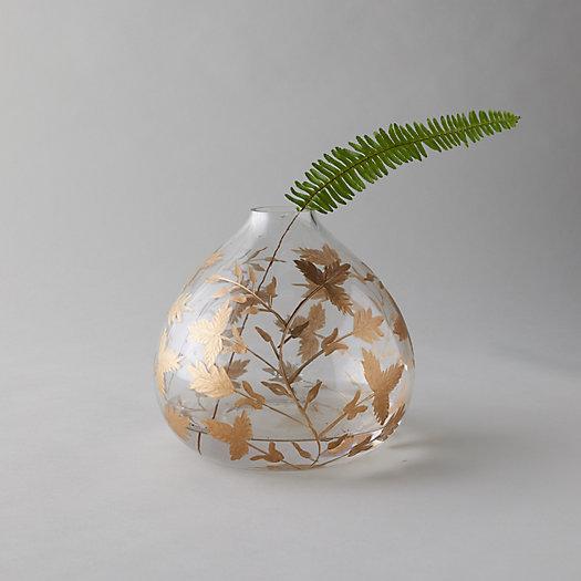 View larger image of Gilded Botanicals Etched Bulb Vase