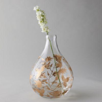 Gilded Botanicals Etched Demijohn Vase