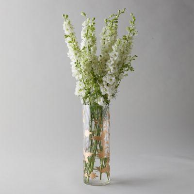 Gilded Botanicals Etched Cylinder Vase