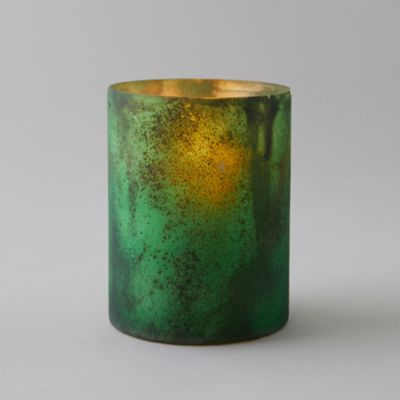 Textured Green Votive
