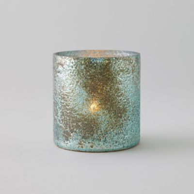 Textured Copper + Turquoise Votive