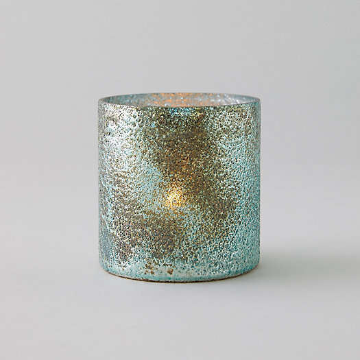 View larger image of Textured Copper + Turquoise Votive
