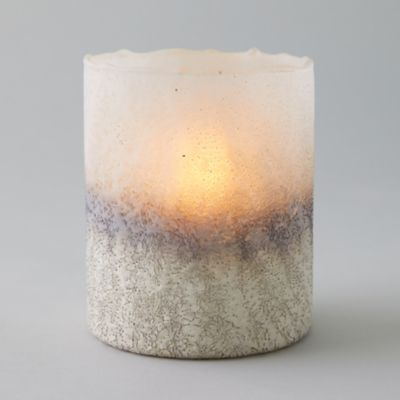Oversized Silver + White Votive