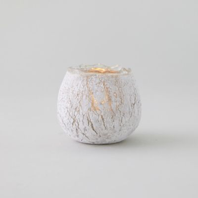 Crackle Gold Tea Light Holder