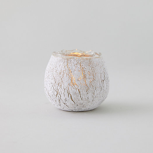 View larger image of Crackle Gold Tea Light Holder