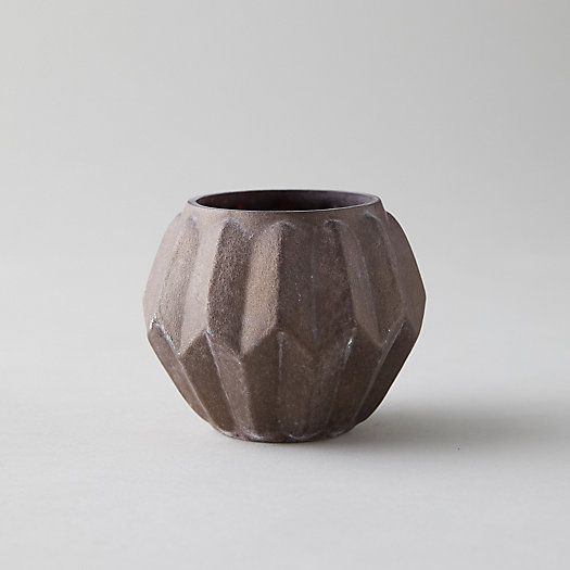 View larger image of Ridged Rustic Purple Tea Light Holder