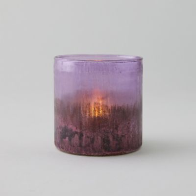 Cut Glass Lilac Votive