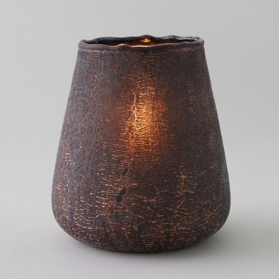 Oversized Copper Crackle Votive