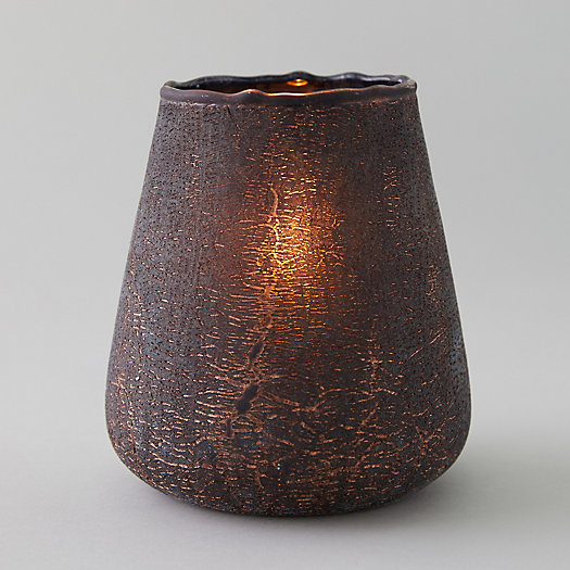 View larger image of Oversized Copper Crackle Votive