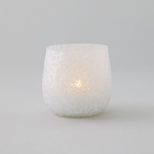 View larger image of Rain Drop Frosted Glass Tea Light Holder