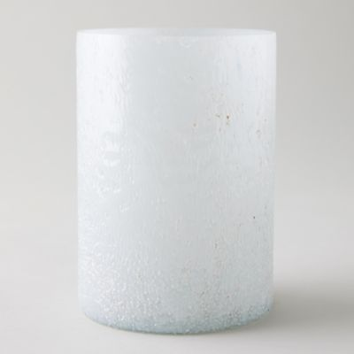 Rain Drop Milk Glass Hurricane