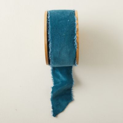 Antiqued Frayed Velvet Ribbon, 64MM