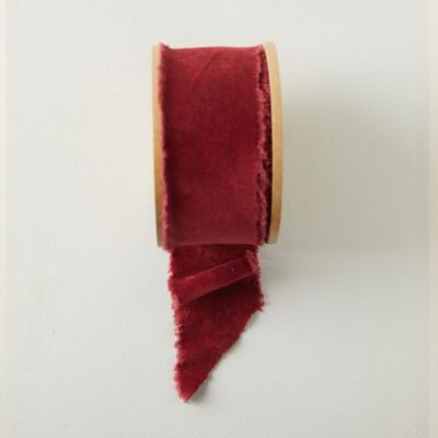 Antiqued Frayed Velvet Ribbon, 64MM
