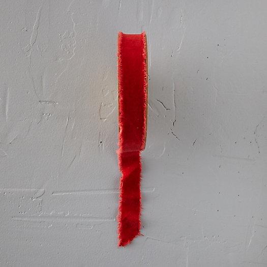 View larger image of Antiqued Frayed Velvet Ribbon, 26MM