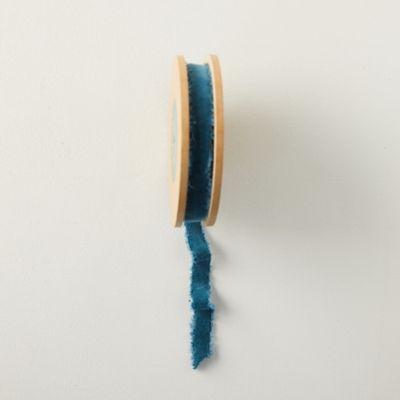 Antiqued Frayed Velvet Ribbon, 10MM