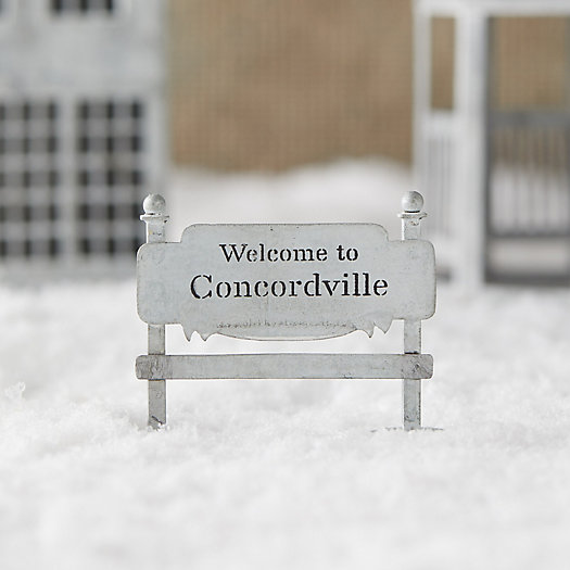 View larger image of Concordville Zinc Welcome Sign